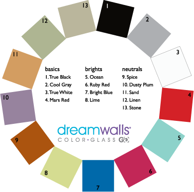 Dreamwalls Color Glass Color Chart