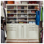 Antique White Walk In Closet Solid Wood Fronts