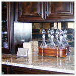 Antique Mirrored Wet Bar