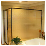 Oil Rubbed Bronze Corner, 80-inch height with Clear Glass