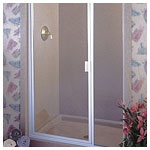 White Inline Door and Panel with Clear Glass