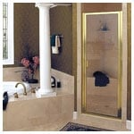 Gold Swing Door with Clear Glass