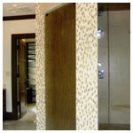 Bamboo Shower Glass Panel