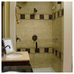 Oil Rubbed Bronze Frameless Inline Shower with Clear Glass