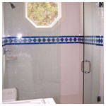 Chrome Frameless Inline Shower with Clear Glass
