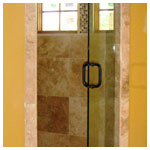 Oil Rubbed Bronze Frameless Swing Shower with Clear Glass
