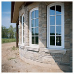 Architectural Single Archtop Casement Windows with Colonial Grilles