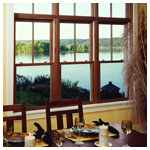 E-Series Double Hung Colonial over Clear