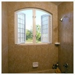 Hylite Twin Arch Top Casement in Shower