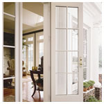 400 Series Frenchwood Outswing Patio Door - Colonial Grilles and Sidelights