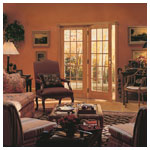 400 Series Frenchwood Hinged Patio Doors, Inswing, Colonial Grilles