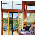 E-Series Sliding Patio Door and Transoms with Divided Light