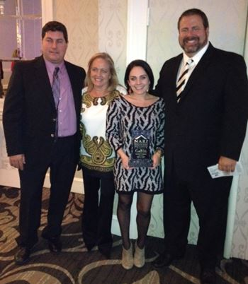 Victor Artuso, Linda Barefoot, Laura Barefoot and Bill Green  at the 2012 Contractor of the Year awards