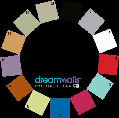 Dreamwalls Color Glass Color Chart