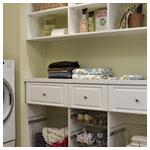 White Raised Panel Laundry