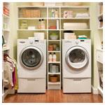 White Walk In Laundry