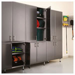 Hammered Grey Tall Cabinets