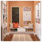 White Living Room Contoured Edge