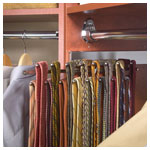 Chrome Tie Rack