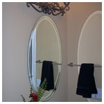 Beveled Edge Oval Mirror