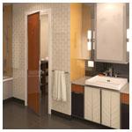 Spice Bathroom Door
