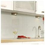 True White Kitchen Backsplash