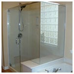 Chrome Frameless Corner Shower with Clear Glass