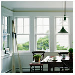 400 Series Woodright Double Hung Colonial over Clear