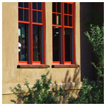 E-series Fixed Double Hung Window with Divided Light, Clay Canyon Exterior Finish